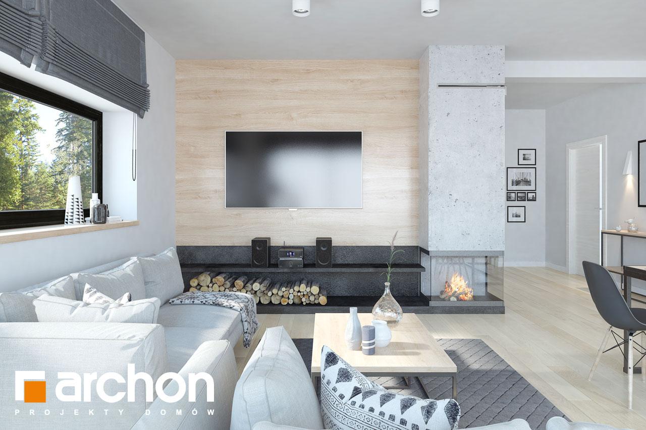 Проект дома ARCHON+ Дом в пеперомиях (Г2) дневная зона (визуализация 1 вид 3)