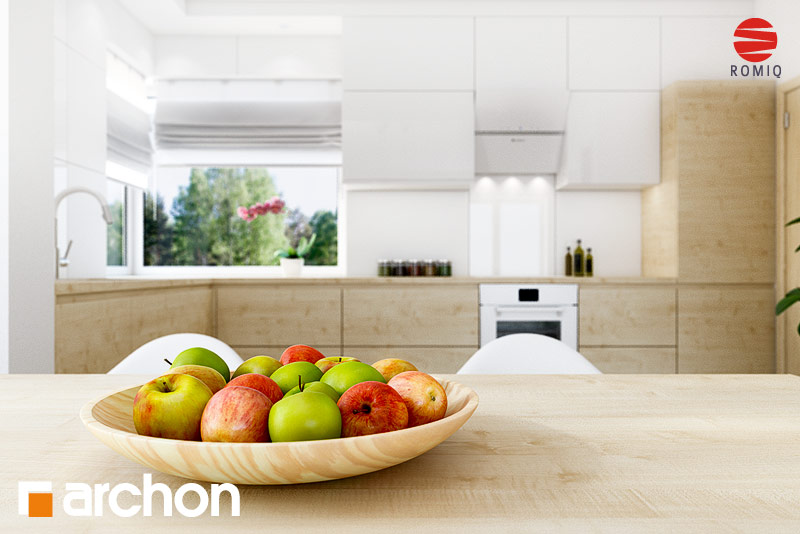 Проект будинку ARCHON+ Будинок в яблонках (Т) аранжування кухні 1 від 4