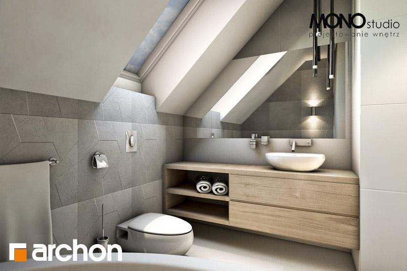 Проект будинку ARCHON+ Будинок в яблонках (Т) візуалізація ванни (візуалізація 1 від 3)