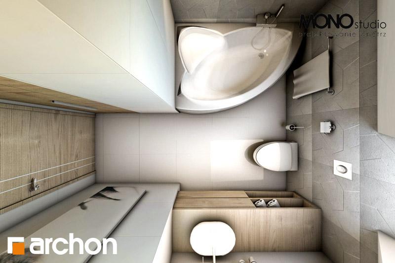 Проект будинку ARCHON+ Будинок в яблонках (Т) візуалізація ванни (візуалізація 1 від 5)
