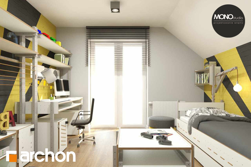 Проект будинку ARCHON+ Будинок в яблонках (Т) нічна зона (візуалізація 3 від 5)
