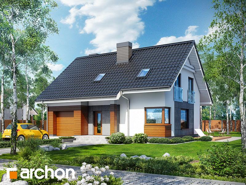 Проект будинку ARCHON+ Будинок в яблонках (Т) Вид 1