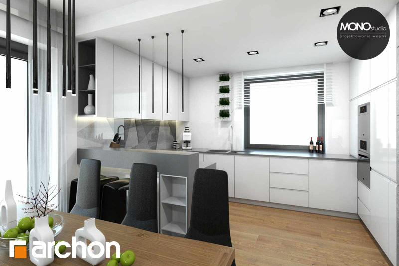 Проект будинку ARCHON+ Будинок в яблонках (Т) денна зона (візуалізація 2 від 1)