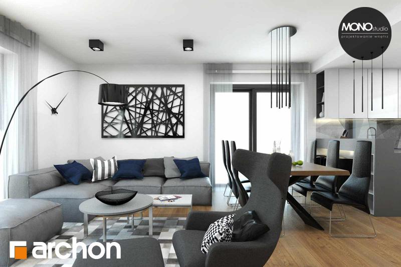 Проект будинку ARCHON+ Будинок в яблонках (Т) денна зона (візуалізація 2 від 3)