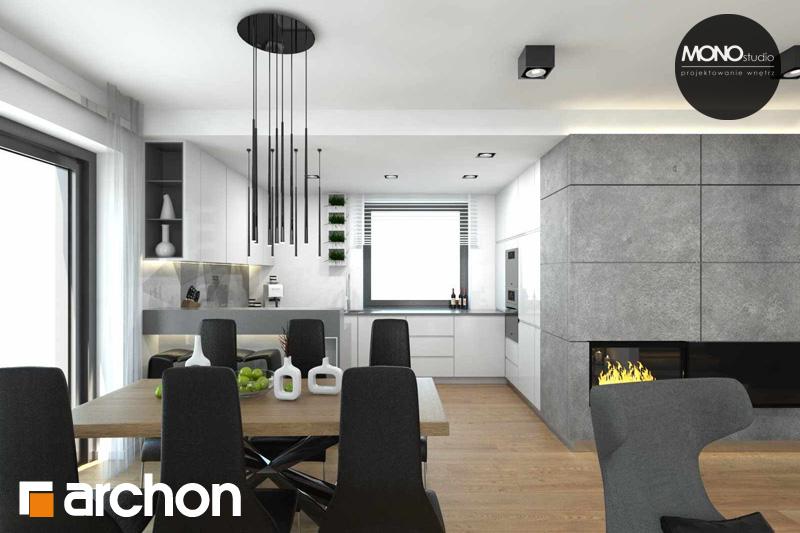 Проект будинку ARCHON+ Будинок в яблонках (Т) денна зона (візуалізація 2 від 4)