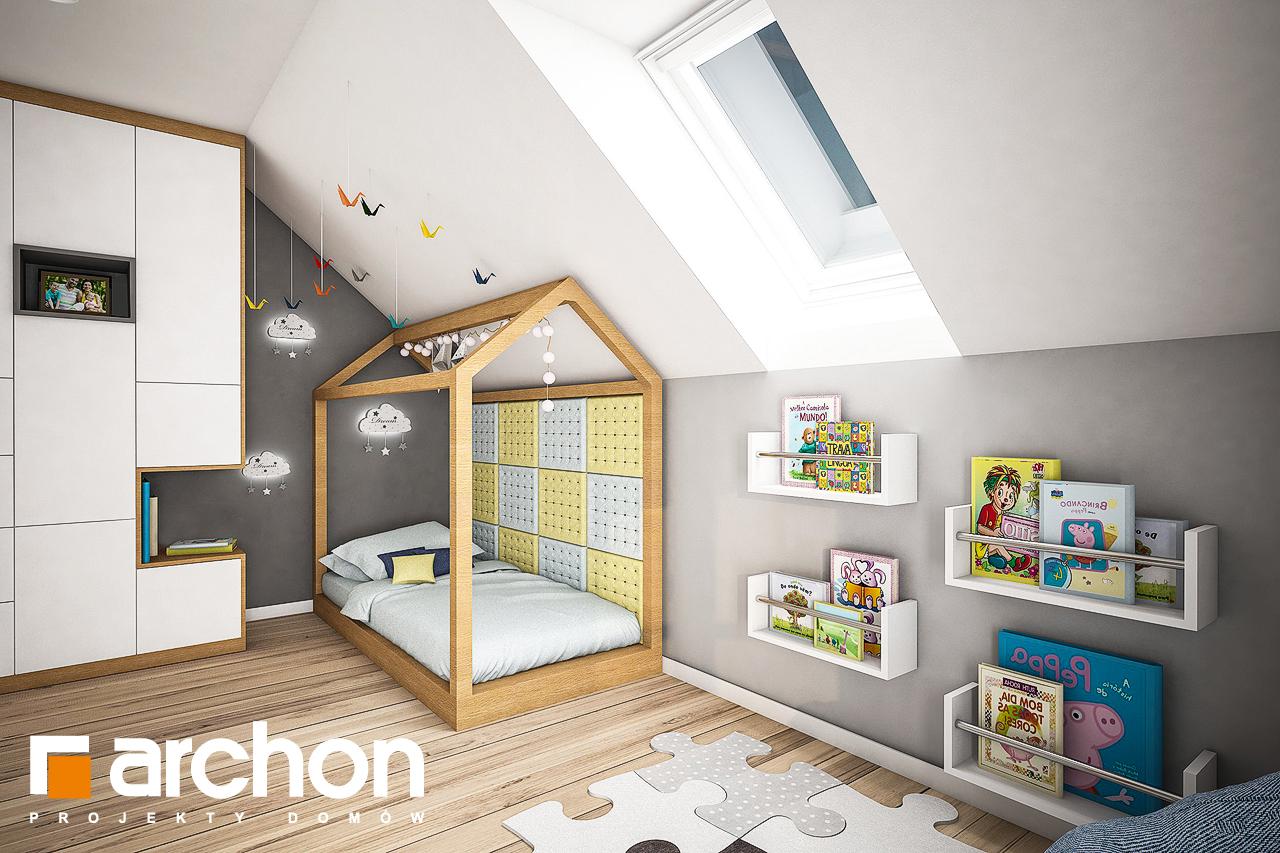 Проект дома ARCHON+ Дом в яблонках 3 (Г2) ночная зона (визуализация 2 вид 1)