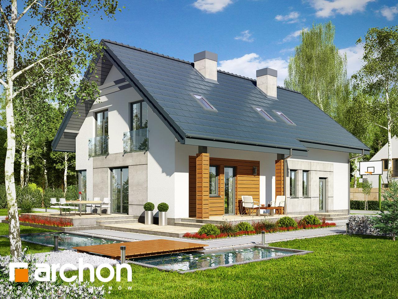 Проект дома ARCHON+ Дом в яблонках 3 (Г2) Вид 2