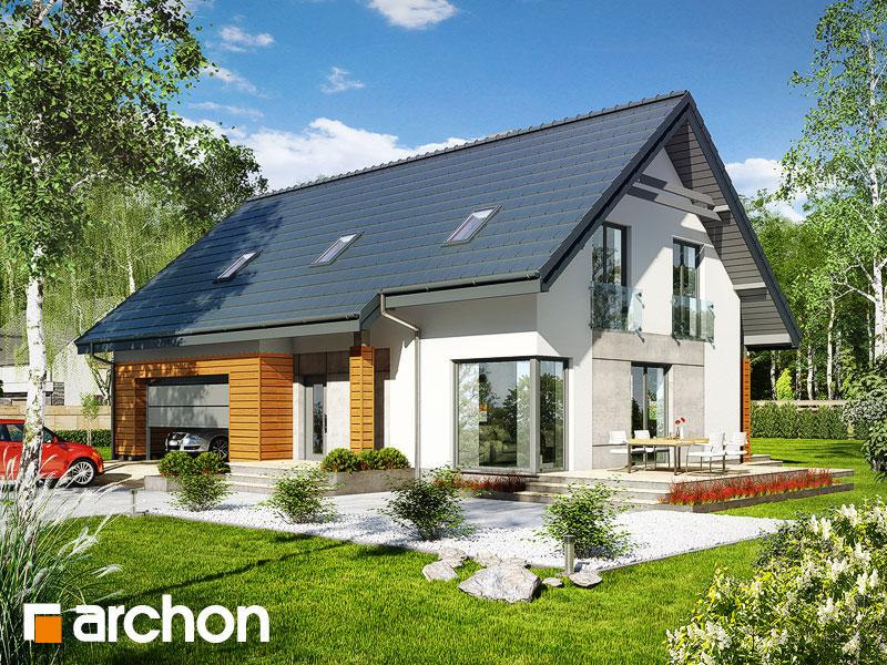 Проект дома ARCHON+ Дом в яблонках 3 (Г2) Вид 1