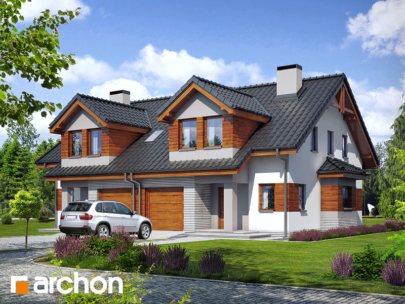 Проект будинку ARCHON+ Будинок в клематисах 9 (БТ) візуалізація усіх сегментів