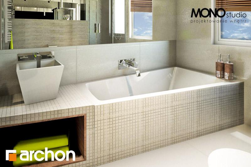 Проект будинку ARCHON+ Будинок в клематисах 9 (БТ) візуалізація ванни (візуалізація 1 від 1)