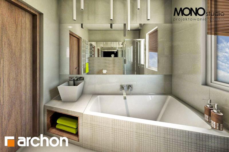 Проект будинку ARCHON+ Будинок в клематисах 9 (БТ) візуалізація ванни (візуалізація 1 від 2)