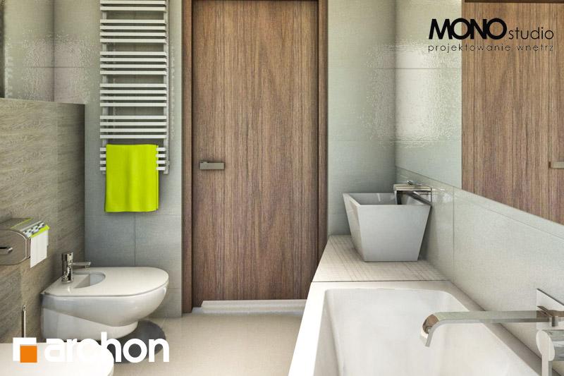 Проект будинку ARCHON+ Будинок в клематисах 9 (БТ) візуалізація ванни (візуалізація 1 від 3)
