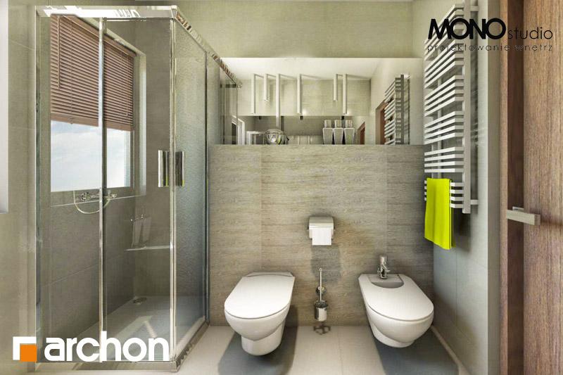 Проект будинку ARCHON+ Будинок в клематисах 9 (БТ) візуалізація ванни (візуалізація 1 від 4)