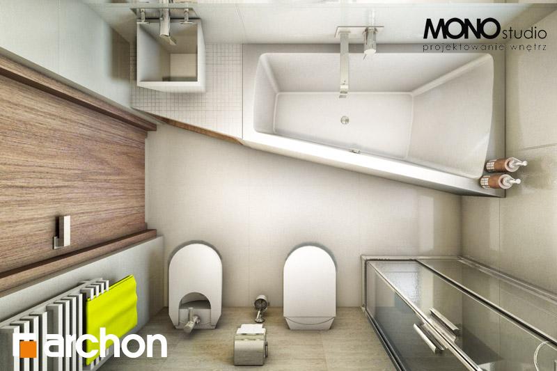 Проект будинку ARCHON+ Будинок в клематисах 9 (БТ) візуалізація ванни (візуалізація 1 від 5)