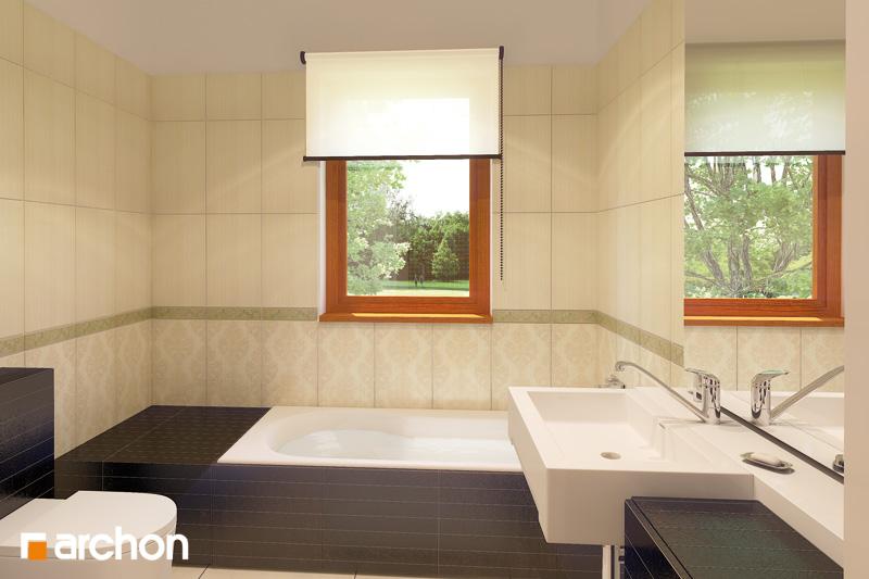 Проект будинку ARCHON+ Будинок в клематисах 9 (БТ) візуалізація ванни (візуалізація 4 від 1)