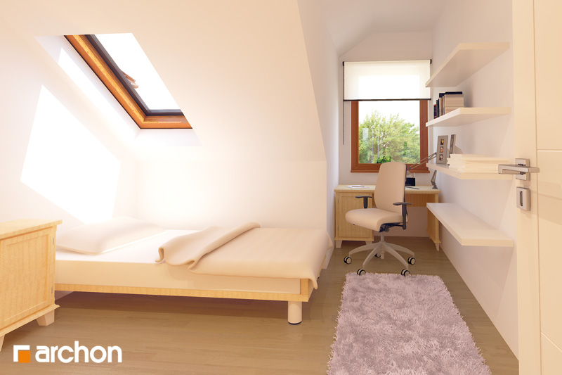 Проект будинку ARCHON+ Будинок в клематисах 9 (БТ) нічна зона (візуалізація 1 від 3)