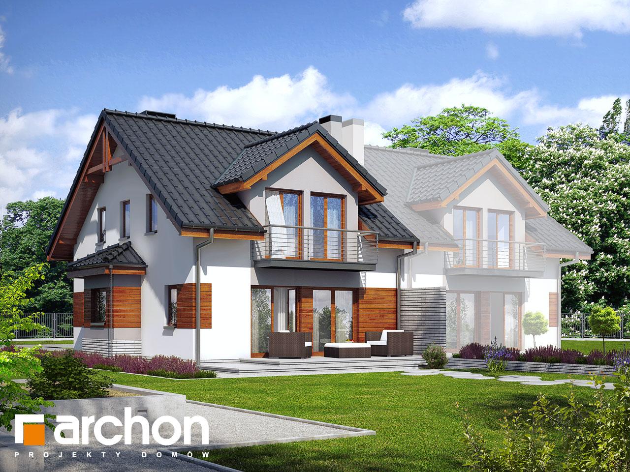 Проект будинку ARCHON+ Будинок в клематисах 9 (БТ) Вид 2