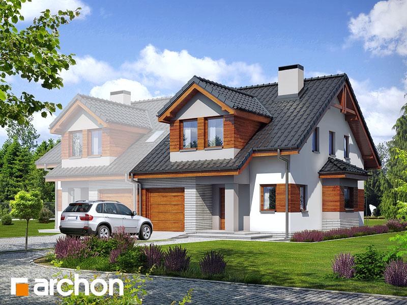 Проект будинку ARCHON+ Будинок в клематисах 9 (БТ) Вид 1