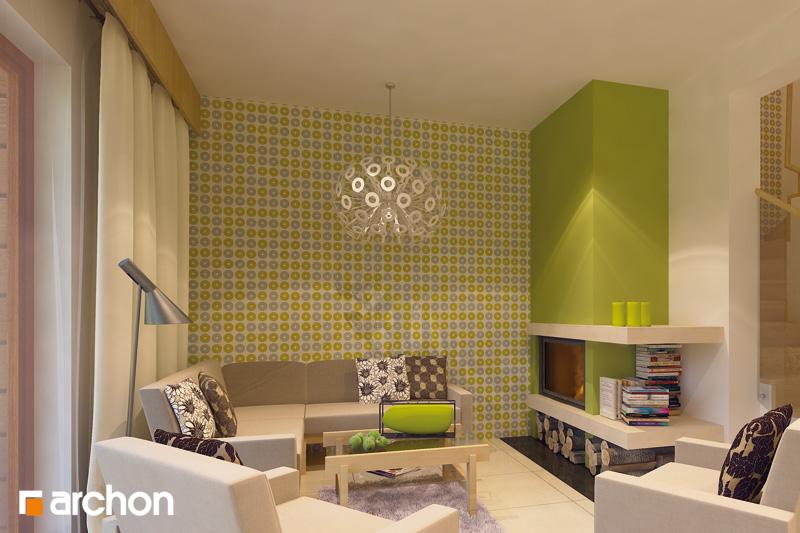 Проект будинку ARCHON+ Будинок в клематисах 9 (БТ) денна зона (візуалізація 2 від 1)