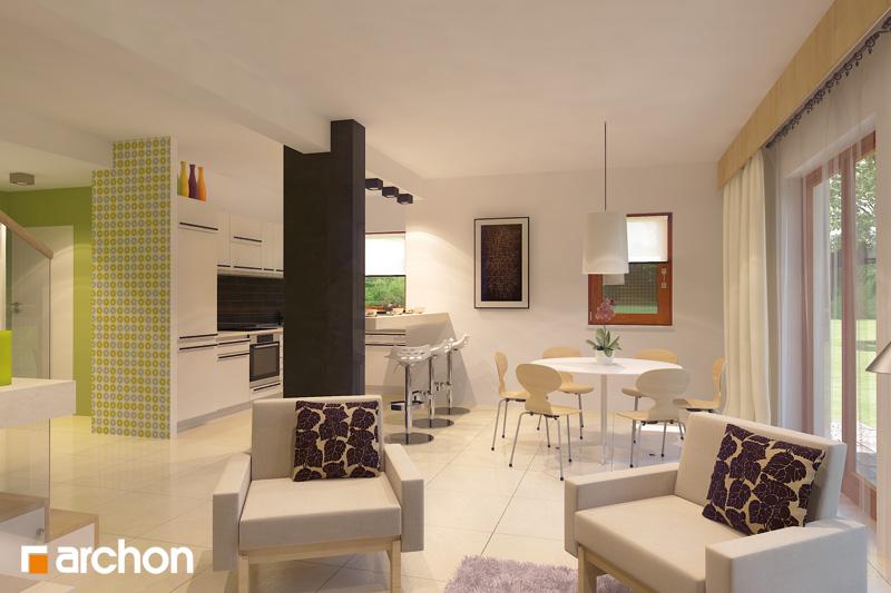 Проект будинку ARCHON+ Будинок в клематисах 9 (БТ) денна зона (візуалізація 2 від 2)