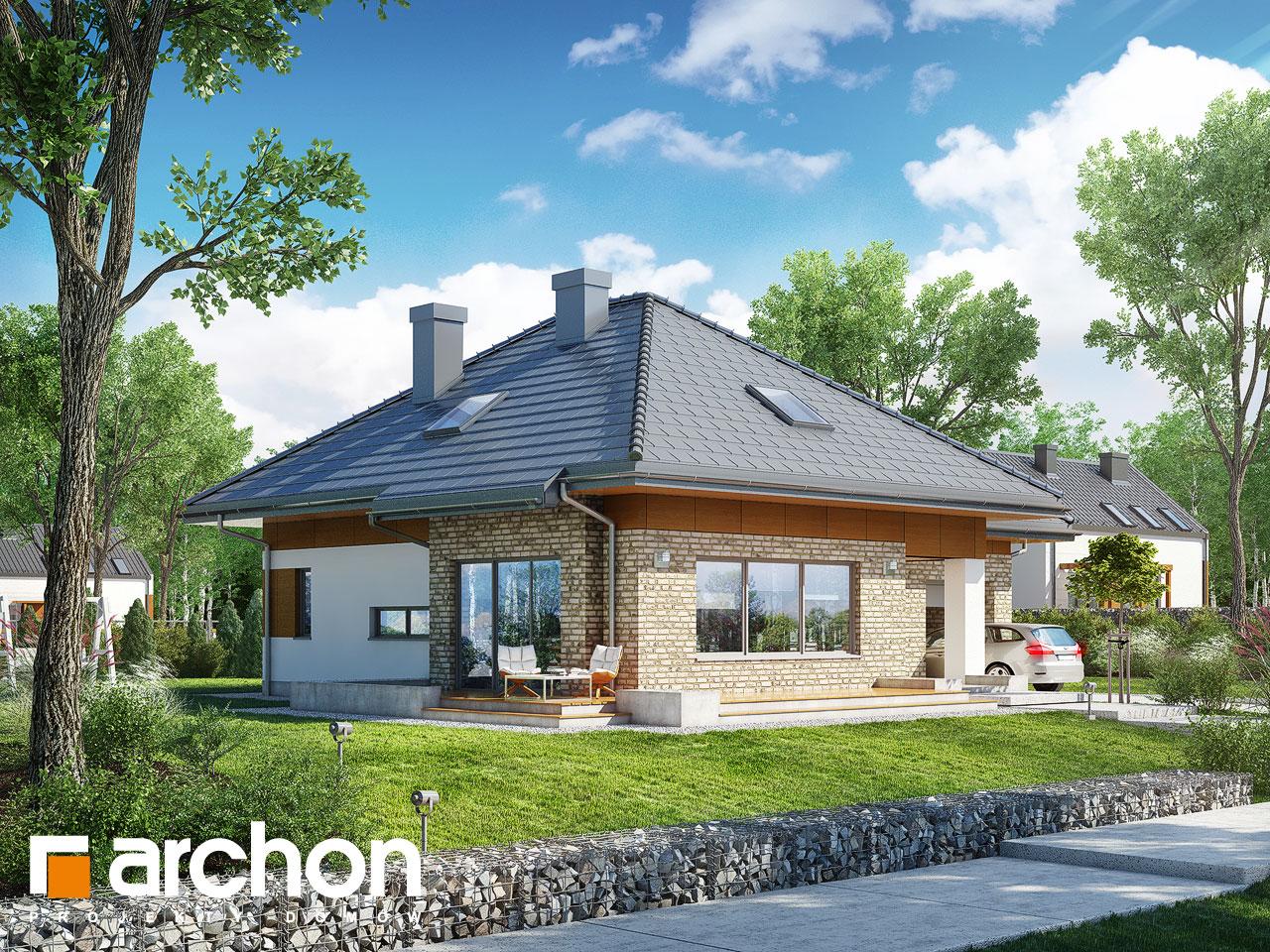 Проект будинку ARCHON+ Будинок в бузку 3 (Г) Вид 2