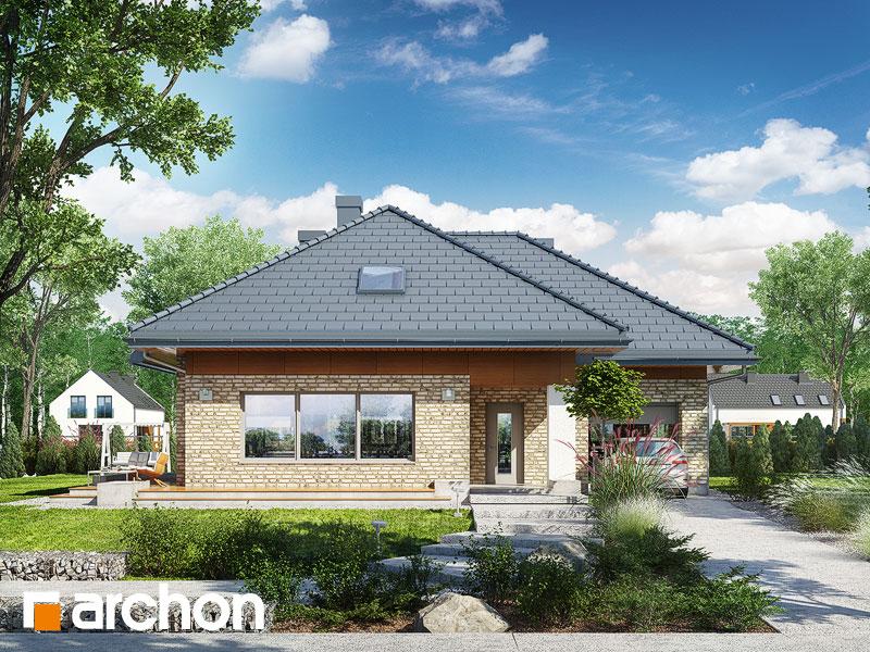 Проект будинку ARCHON+ Будинок в бузку 3 (Г) Вид 1