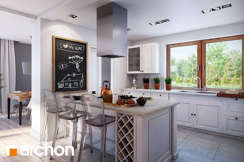 Проект будинку ARCHON+ Будинок в каннах 2 (П) візуалізація кухні 1 від 1