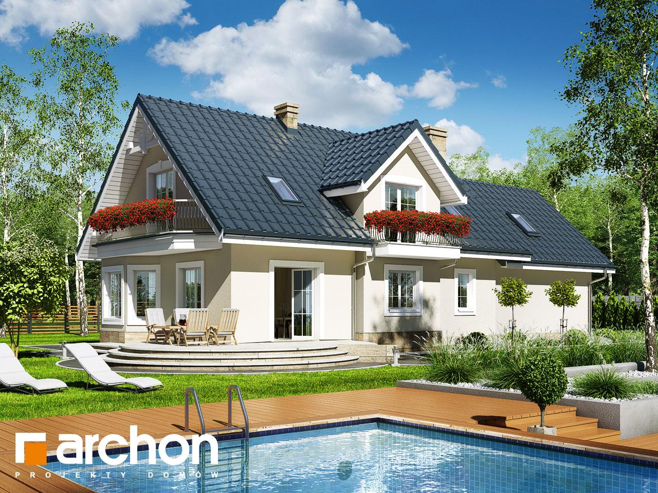 Проект будинку ARCHON+ Будинок в лобеліях (Г2) Вид 2