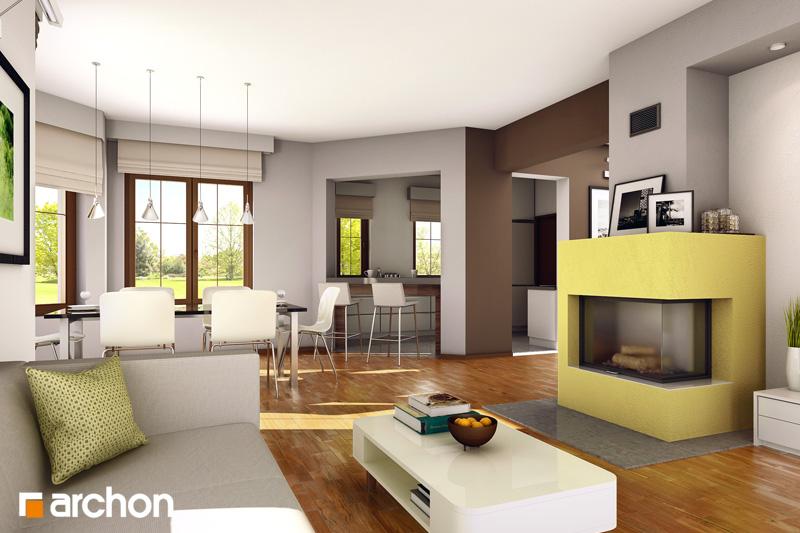 Проект будинку ARCHON+ Будинок в лобеліях (Г2) денна зона (візуалізація 1 від 1)
