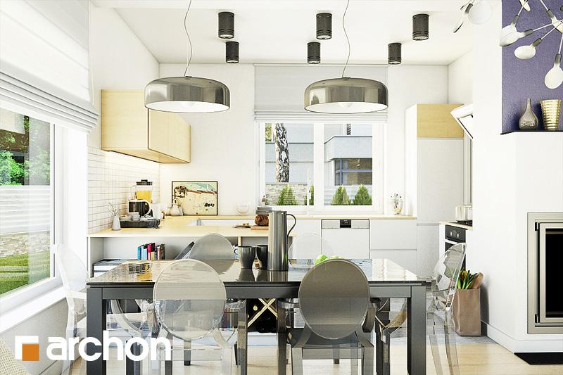 Проект будинку ARCHON+ Будинок в лещиновнику 2 візуалізація кухні 1 від 1