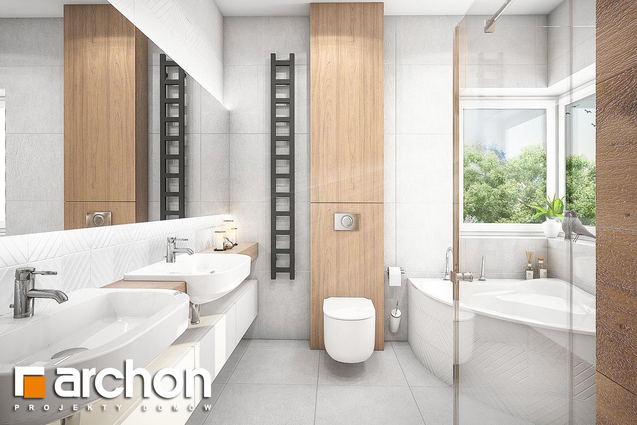 Проект будинку ARCHON+ Будинок в лещиновнику 2 візуалізація ванни (візуалізація 3 від 1)
