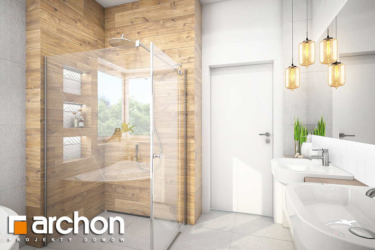 Проект будинку ARCHON+ Будинок в лещиновнику 2 візуалізація ванни (візуалізація 3 від 2)