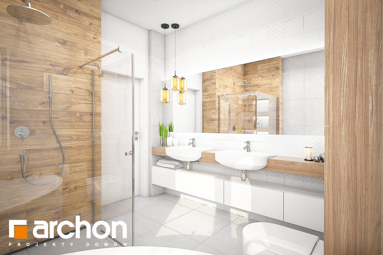 Проект будинку ARCHON+ Будинок в лещиновнику 2 візуалізація ванни (візуалізація 3 від 3)