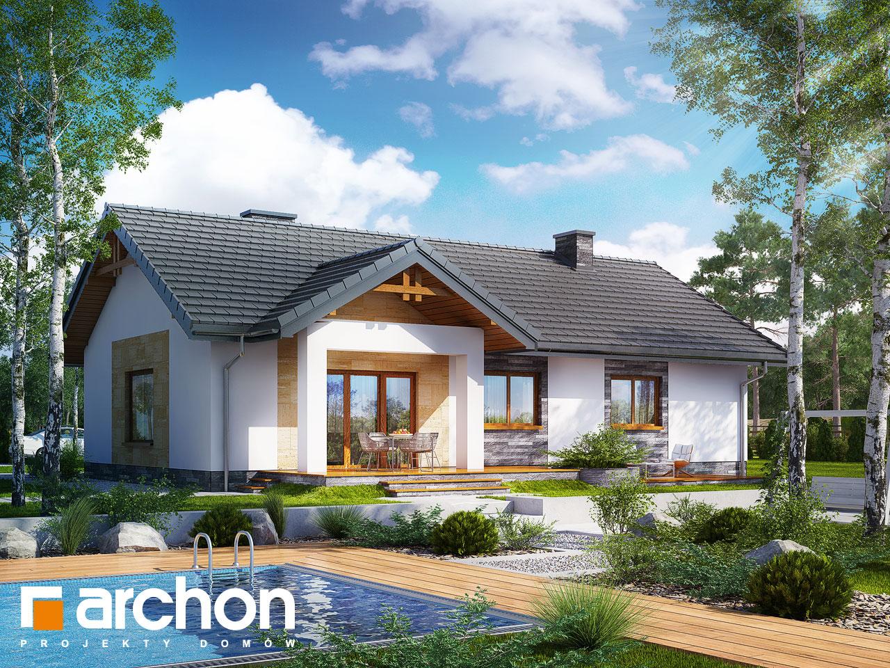 Проект будинку ARCHON+ Будинок в лещиновнику 2 Вид 2