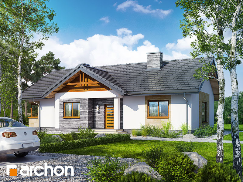 Проект будинку ARCHON+ Будинок в лещиновнику 2 Вид 1