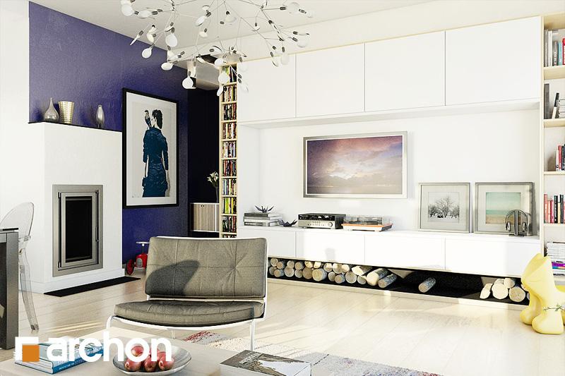 Проект будинку ARCHON+ Будинок в лещиновнику 2 денна зона (візуалізація 1 від 2)