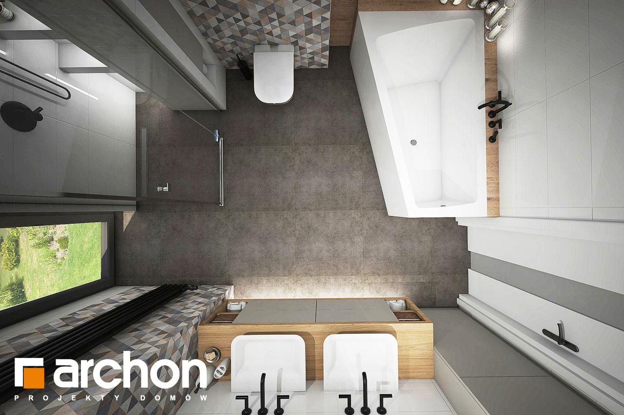 Проект будинку ARCHON+ Будинок в яблонках 4 візуалізація ванни (візуалізація 3 від 4)