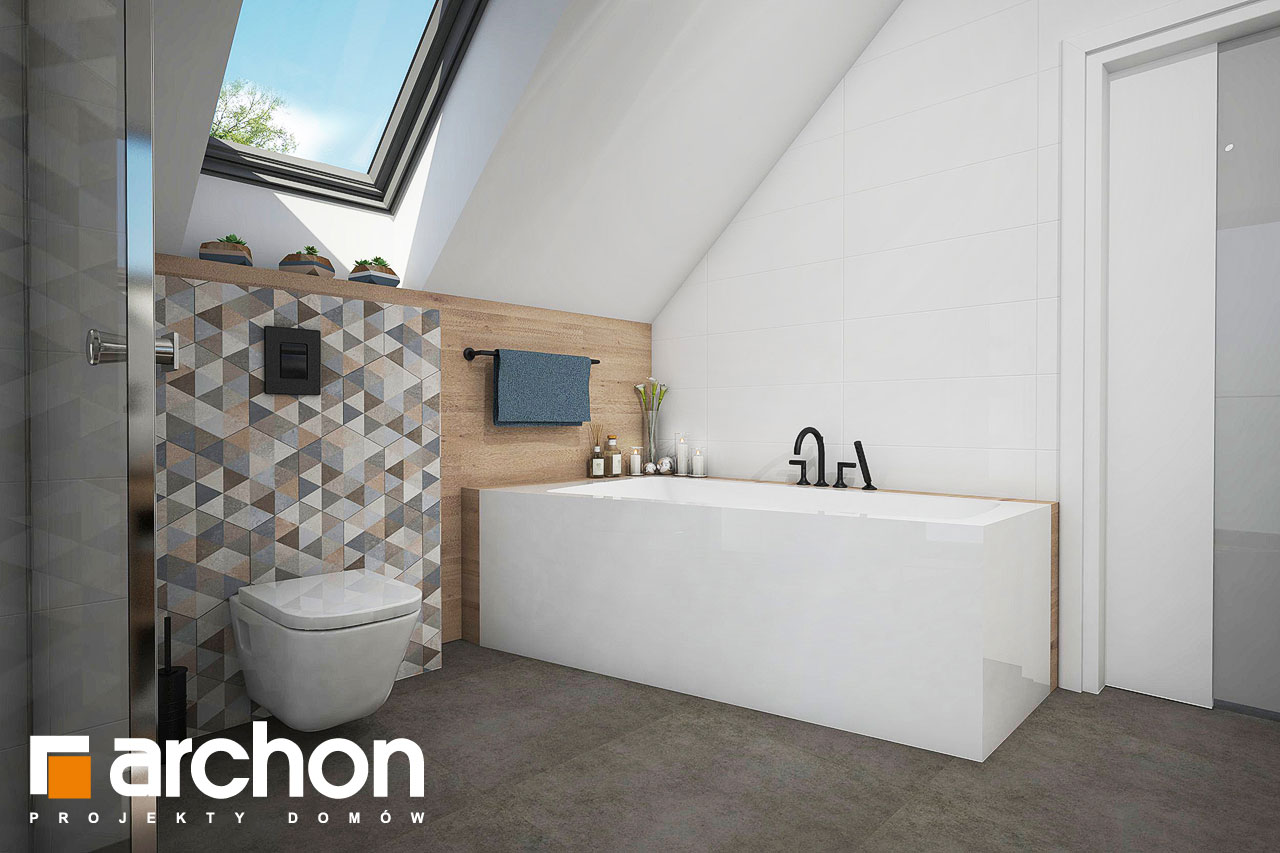 Проект дома ARCHON+ Дом в яблонках 4 визуализация ванной (визуализация 3 вид 3)