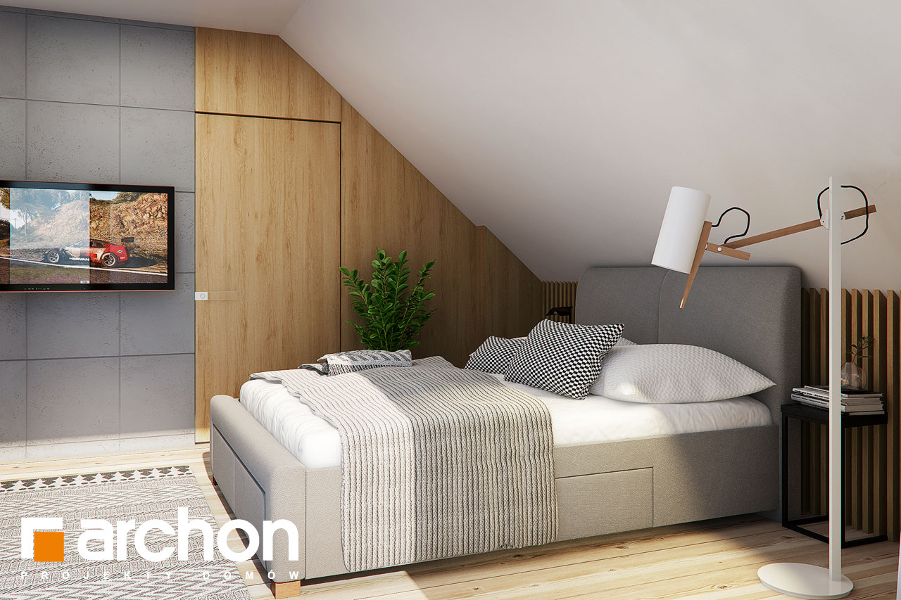 Проект будинку ARCHON+ Будинок в яблонках 4 нічна зона (візуалізація 1 від 1)