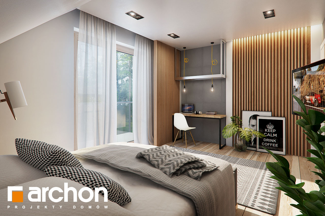Проект дома ARCHON+ Дом в яблонках 4 ночная зона (визуализация 1 вид 2)