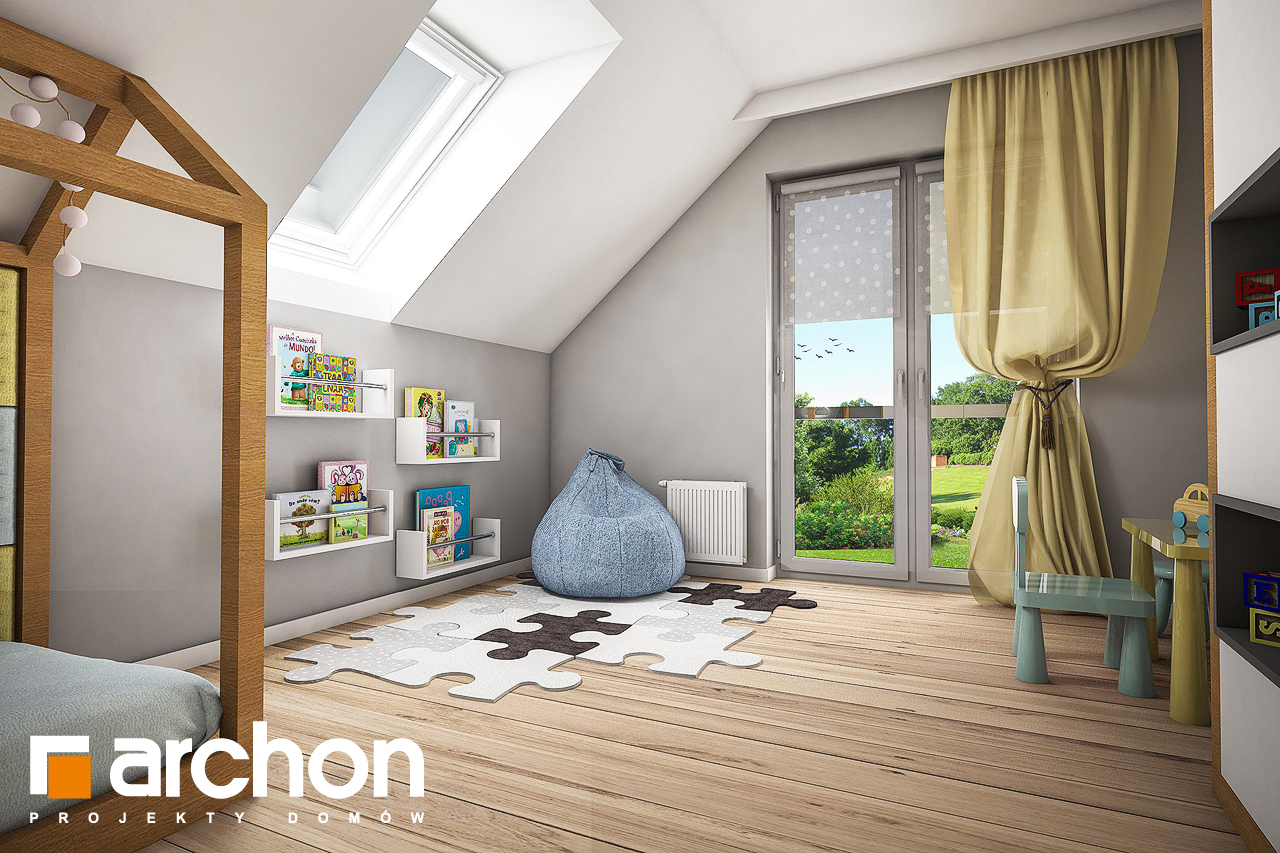 Проект будинку ARCHON+ Будинок в яблонках 4 нічна зона (візуалізація 2 від 3)
