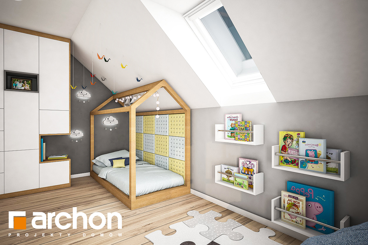 Проект дома ARCHON+ Дом в яблонках 4 ночная зона (визуализация 2 вид 2)