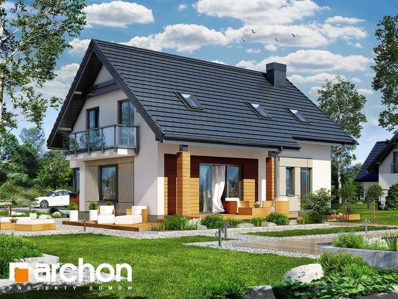 Проект дома ARCHON+ Дом в яблонках 4 Вид 2