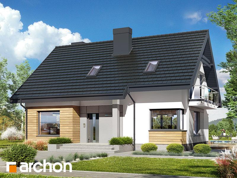 Проект дома ARCHON+ Дом в яблонках 4 Вид 1