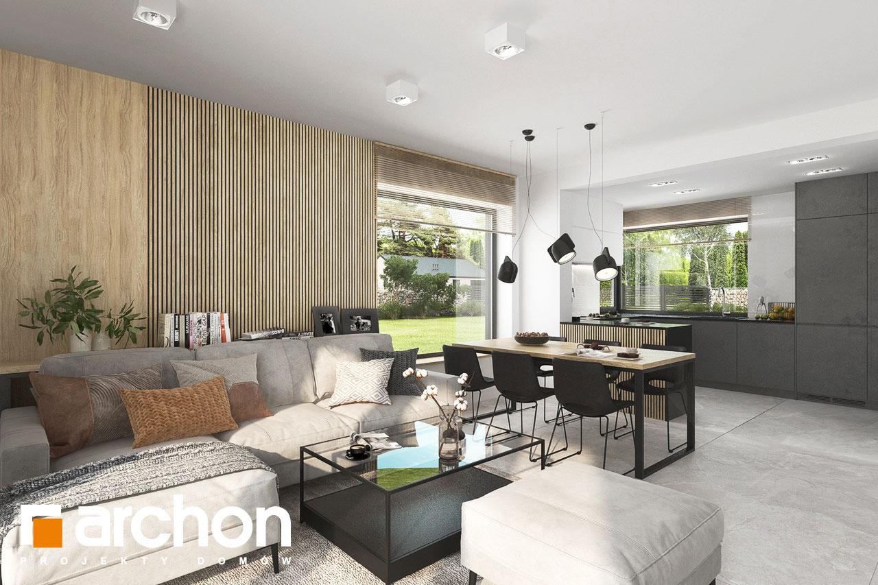 Проект дома ARCHON+ Дом в яблонках 4 дневная зона (визуализация 1 вид 1)