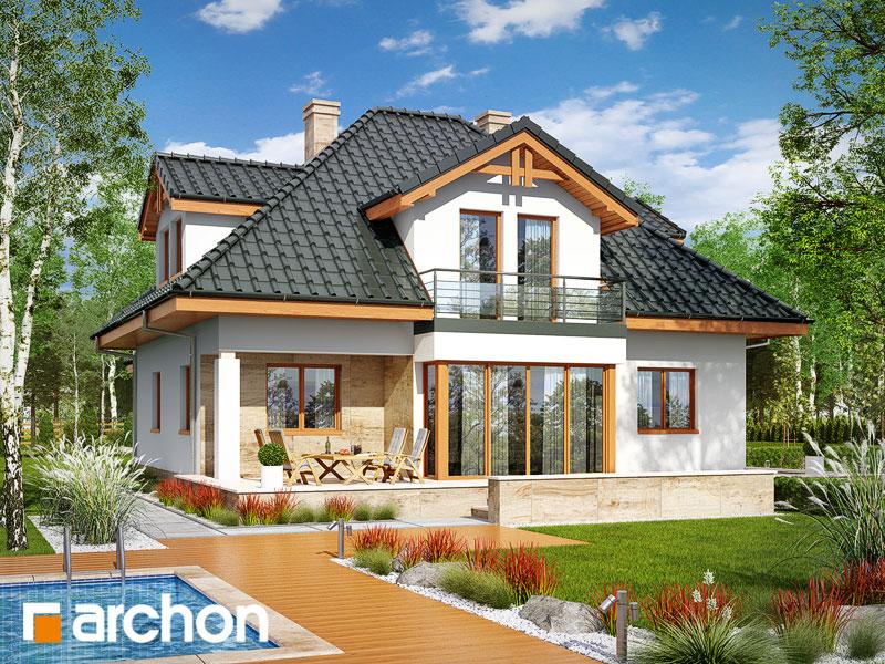 Проект будинку ARCHON+ Будинок в чорнушках (Г) додаткова візуалізація