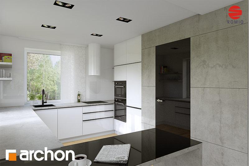 Проект будинку ARCHON+ Будинок в чорнушках (Г) аранжування кухні 1 від 2