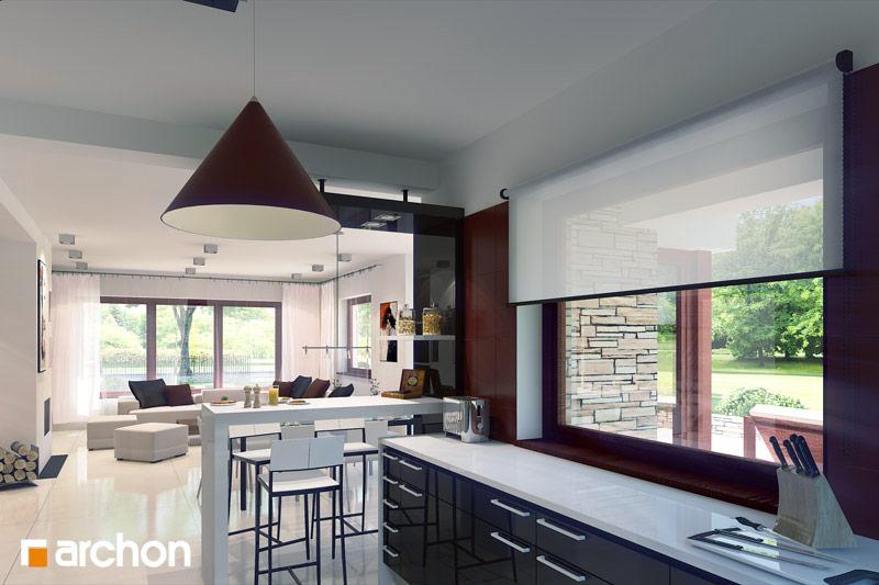 Проект будинку ARCHON+ Будинок в чорнушках (Г) візуалізація кухні 1 від 1