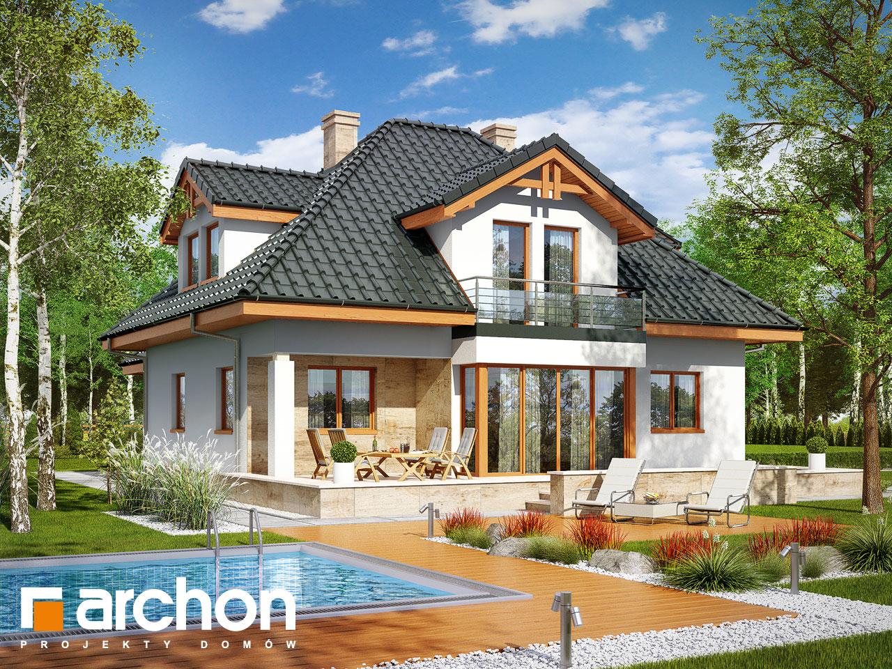 Проект будинку ARCHON+ Будинок в чорнушках (Г) Вид 2