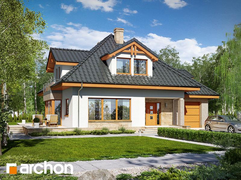 Проект будинку ARCHON+ Будинок в чорнушках (Г) Вид 1